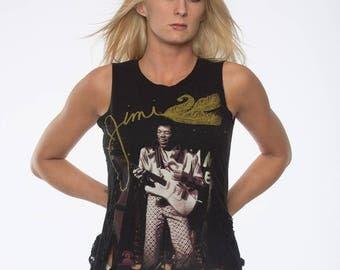 Jimi Hendrix Shirt, Distressed Shirt, Shredded Band Shirt, Shredded t Shirts, Jimi Hendricks Clothing, Jimi Hendricks Women's Tank