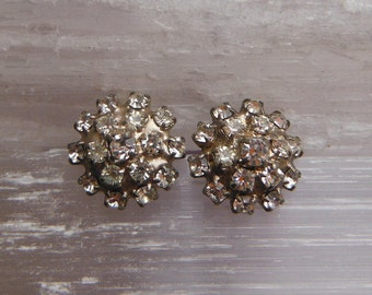 Crystal Rhinestone Stud Earrings