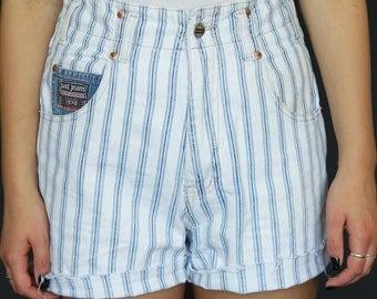 90s Stripe Denim Shorts
