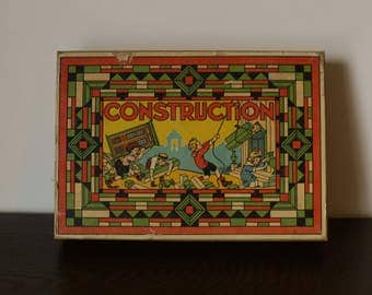 Wooden construction game