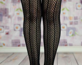 Black Ruffled Cable Knit Boot Socks