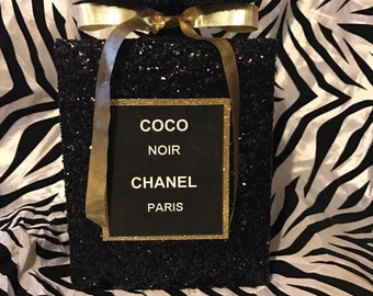"""Inspired 8"""" Coco Noir Chanel Decor Bottle     Shipping may vary"""
