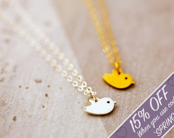 Up Up and Away | Tiny Bird Necklace | 14k gift for her | Bestfriend Necklace | Wish Necklace | Dainty thin chain | Nature lover gift
