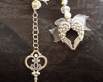 Faith and love romantic drop necklet