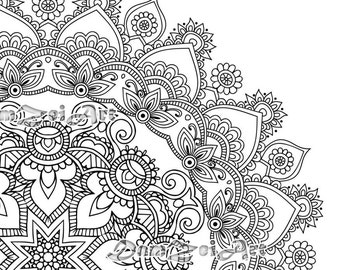 mandala coloring pages printable pdf blank mandala designs to print and color adult - Mandalas Coloring Pages Printable
