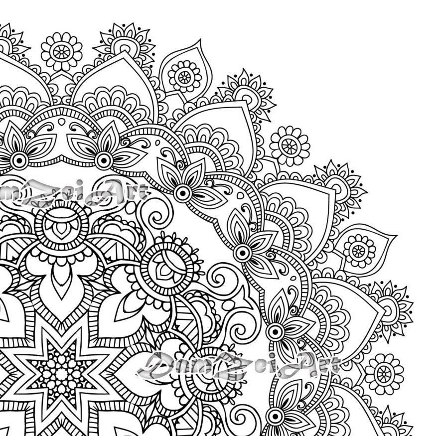 print out madala coloring pages | Mandala Coloring Pages Printable Pdf Blank Mandala Designs