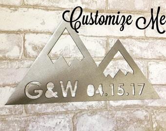 Customized Metal Mountain Sign