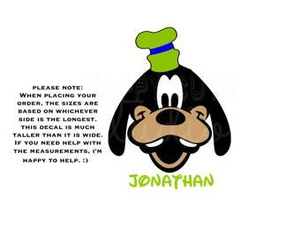 Goofy Personalized Disney Vacation Disney World Matching Family Father Dad Son Family Disney Iron On Vinyl Decal for Shirt