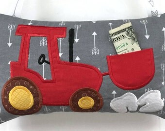 Tractor Tooth Fairy Pillow - Tooth Fairy Pillow Boy - Tooth Pillow - Tooth Holder