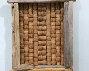 Driftwood Champagne Cork Board