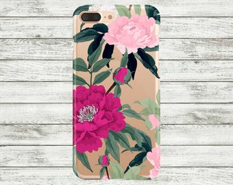 iPhone 7 plus case clear, Flowers Hard Plastic or  Rubber iPhone 7 case. iPhone 6 / 6s, 6 Plus Case, iPhone 5s / 5 / SE Case.
