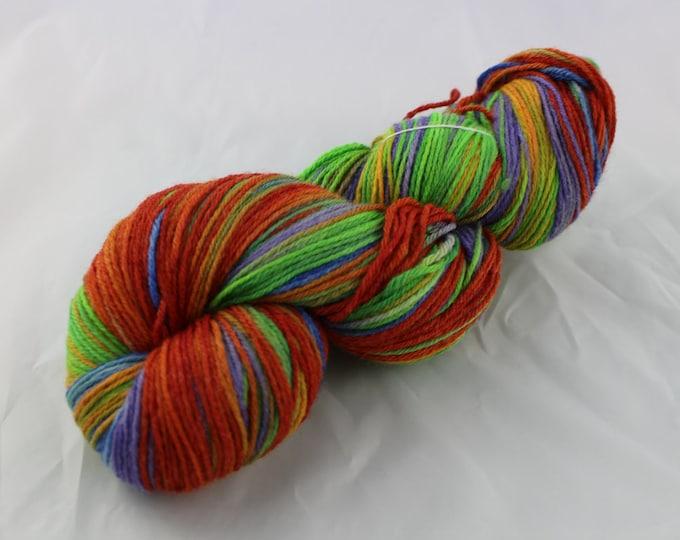 Turtle Power - Fingering Weight - Sock Yarn - Dottie Base - 70/30 Merino Silk - 440 Yards/100 Grams
