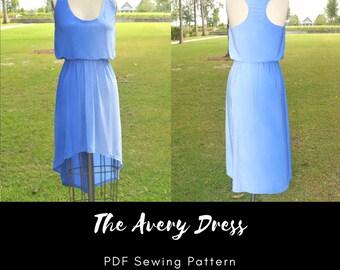 The Avery Dress - PDF Sewing Pattern - XS-XXXL