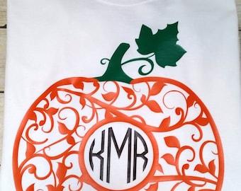 Monogrammed fall shirts, pumpkin monogrammed shirt, monogrammed shirt, preppy fall shirts, gifts for her, pumpkin shirts, personalized shirt