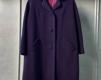 Vintage Purple Wool Coat