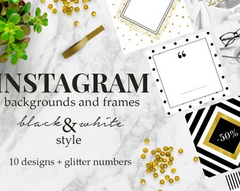 Black & White: Social Media Instagram Templates / Шаблоны