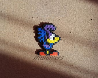Figurine beep Speedy Road Runner Cartoon Looney Tunes [Pixel Art Hama Beads] Chibi