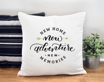 Housewarming Gift, New Home Gift, Home Decor, Throw Pillow, Cushion Cover, Throw Pillow Covers, Decorative Pillow, 18X18 Pillow, New Home