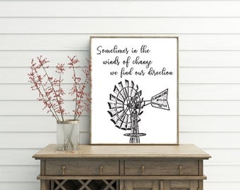 Printable Quotes, printable, windmill decor, windmill wall art, farmhouse decor, quote prints, quote posters, quote art, quote wall art
