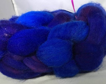 "Corridale ""Mid-Nite Blues"" 4 oz Hand Dyed Roving"