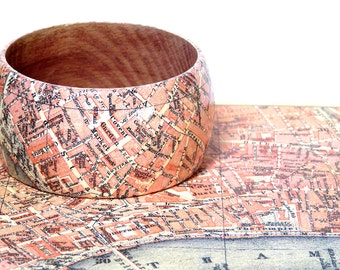 Bangles LONDON 1923 Covent Garden Holborn Fleet Street city map incl. gift box gift for you gifts for travelers vintage