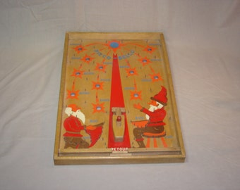 Poosh-m-up. Table de flipper. Picco bello. Lutins. Vintage toy. Elfes. Leprechaun. Elf. Pin ball.