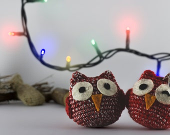 Owl lucky charm - Christmas edition