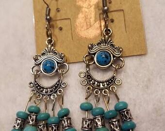 Chandelier, turquoise,