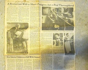 The New York Times, Thursday, August 26, 1971 Write-up - Black Dog Restuaurant, Vineyard Haven, Mass - by Raymound A. Sokolov