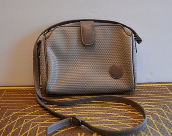 1983 Liz Claiborne Genuine Leather Trim Crossbody Purse
