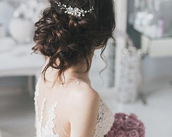 Wedding Hair Comb Natural Pearls, Bridal Hair Comb,Wedding Freshwater Hair Comb,Wedding Hair Accessories,Crystal Hair Comb,Bridal Hair Piece