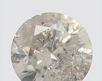 2.10 MM 0.036 Ct Natural Loose Diamond Round Shape Fancy White Color N2704
