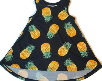Girls Dress, Pineapple Dress, Toddler Dress, Toddler Girl Dress, Summer Dress