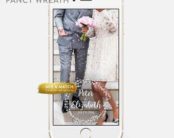 Whimsical Wedding Snapchat Geofilter Personalized Custom On-Demand Geo filter