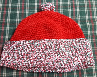 Adult size multi-colored Christmas caps