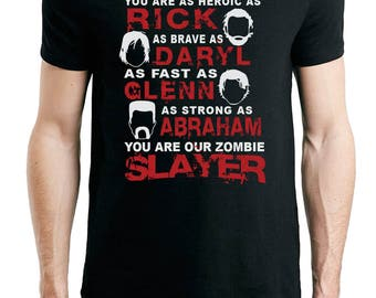 The Walking Dead Our Zombie Slayer, Fathers Day T-Shirt Daddy Tee Shirt