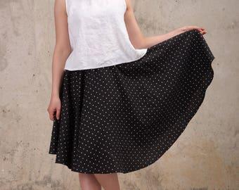 Womens Linen skirt - Washed linen skirt - Midi linen skirt - High waist linen skirt - Natural linen skirt