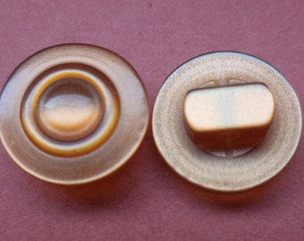 10 small brown BUTTONS 12mm (3935) button