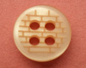 14 small buttons of 9mm orange (857) button