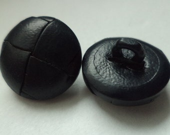 10 leather buttons 15 mm blue (3940) dark blue buttons leather button jacket buttons shirt buttons