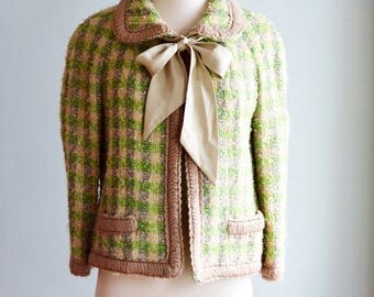 1960's Lili Ann Boucle Spring Coat
