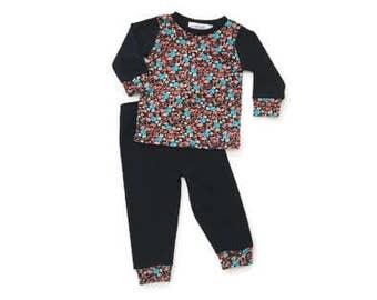 Aqua Coral Pajama Set