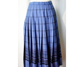 Vintage Pendleton Blue Plaid Skirt