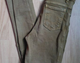 Hac-Tac Mustard Brown Riding Skinny Jeans - Size 30 in - Vintage *Please see SHOP ANNOUNCEMENT*