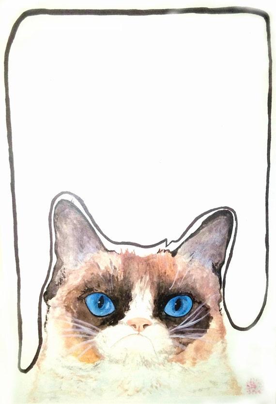 Grumpy Cat the messenger illustration