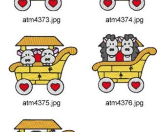 Noahs-Ark-Train-3  ( 5 Machine Embroidery Designs from ATW ) XYZ17D