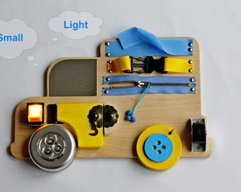 Toddler Busy Board Toddler gift Montessori toy Latch board Toy for travel Sensory board Mobile Fine motor skills Present for Toddler Color