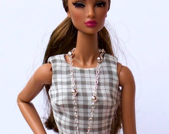 Barbie clothes - Barbie necklace, FR2 necklace, FR16 Necklace, Doll jewelery, doll clothes