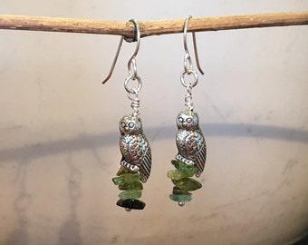 Owls and Chunky Moss Agate