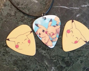Pokemon/Pikachu Guitar Pick Necklace - Great accessory!